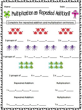 multiplication as repeated addition by jamiep  tpt