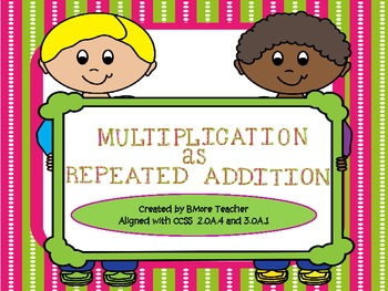 Multiplication as Repeated Addition Task Cards