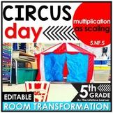 Multiplication as Scaling | 5th Grade Circus Classroom Transformation