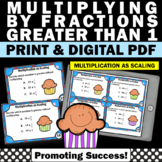 Multiplication as Scaling 5th Grade Math Review Multiplying Fractions Task Cards