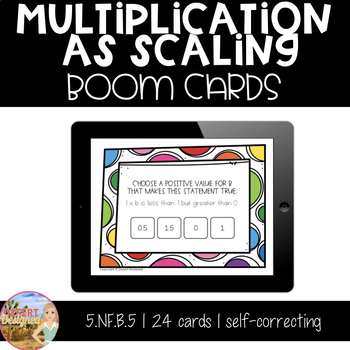 Multiplication as Scaling - Boom Cards