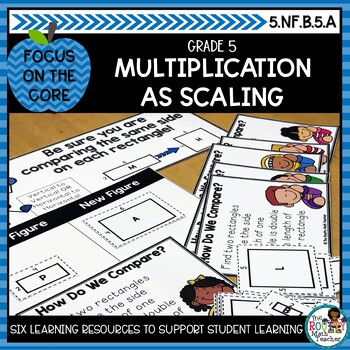 Multiplication as Scaling- Math Center Activity and Printables Pack