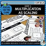 Multiplication as Scaling | Math Center Activities and Mat