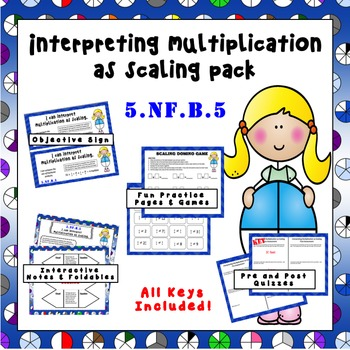 Multiplication as Scaling  Practice Pack – Distance Learning