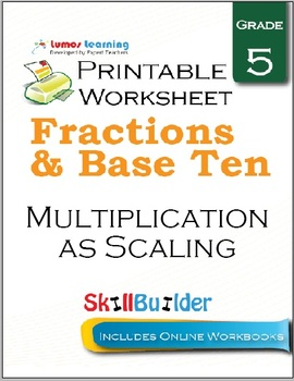 Multiplication as Scaling Printable Worksheet, Grade 5