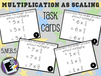 Multiplication as Scaling Task Cards
