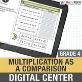 Multiplication as a Comparison - 4th Grade Google Slides™ Math Center