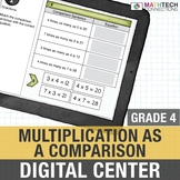 Multiplication as a Comparison - 4th Grade Google Slides™ Math Center