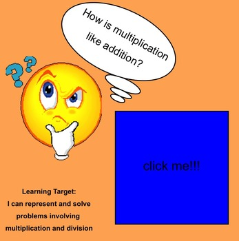 Multiplication as repeated addition-Smartboard Activity