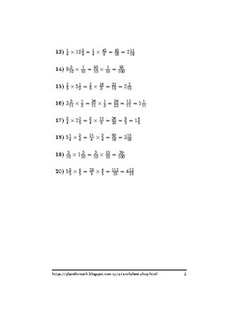 Multiplication between fractions and mixed numbers