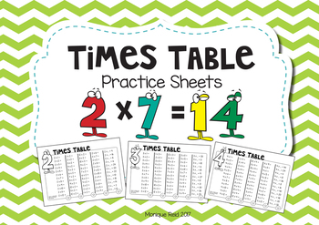Times Table Multiplication booklet / worksheets