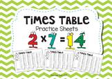 Times Table Multiplication booklet / worksheets
