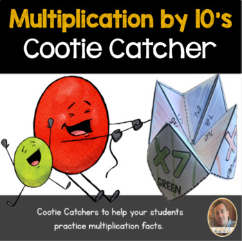 Multiplication by 10's Cootie Catcher/Fortune Teller- Perfect for Fact Fluency