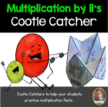 Multiplication by 11's Cootie Catcher/Fortune Teller- Perfect for Fact Fluency