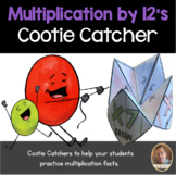 Multiplication by 12's Cootie Catcher/Fortune Teller- Perfect for Fact Fluency