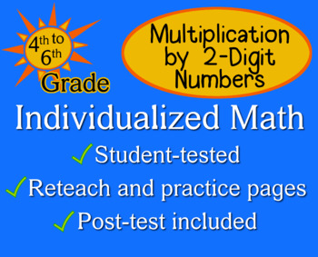 Multiplication by 2-Digit Numbers - worksheets - Individualized Math