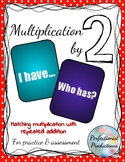 Multiplication by 2 and Repeated Addition Card Matching FREEBIE