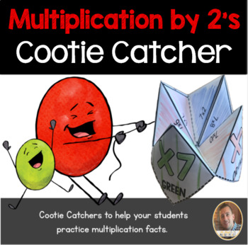Multiplication by 2's Cootie Catcher/Fortune Teller- Perfect for Fact Fluency