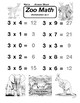 Multiplication by 3 Zoo Math Worksheet