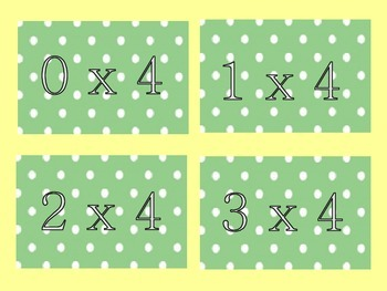 Multiplication by 4-Matching Game