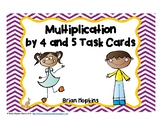 Multiplication by 4 and 5 Task Cards