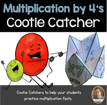 Multiplication by 4's Cootie Catcher/Fortune Teller- Perfe