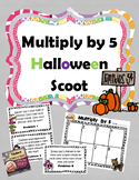 Multiplication by 5 Halloween SCOOT