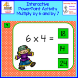 Multiplication by 6 and by 7 Interactive PowerPoint  Scarecrows Theme