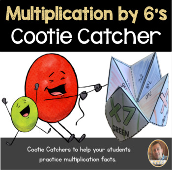 Multiplication by 6's Cootie Catcher/Fortune Teller- Perfe