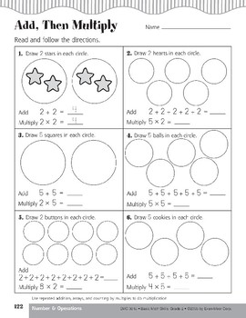Multiplication by Addition, Array, and Counting