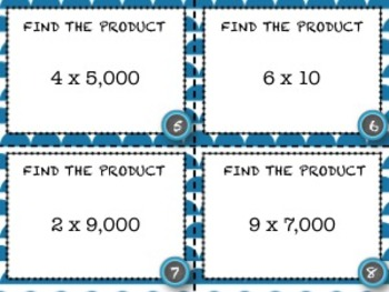 Multiplication by Powers of 10 Task Cards