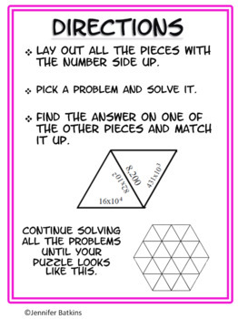 Multiplication by Powers of Ten Self Checking Math Center Activity