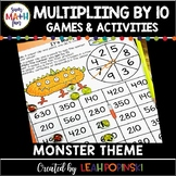 Monster Multiplication by 10 Games Activities Centers Third Grade