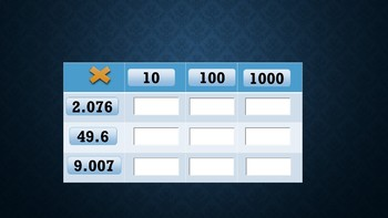 Multiplication by Tens Tic Tac Toe
