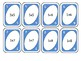 Multiplication cards for five times tables