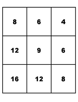 Multiplication cards to 7x7