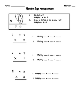 Multiplication - double digit x single digit