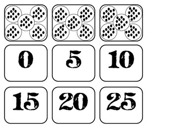 Multiplication (equal groups) by 2's and  5's sort