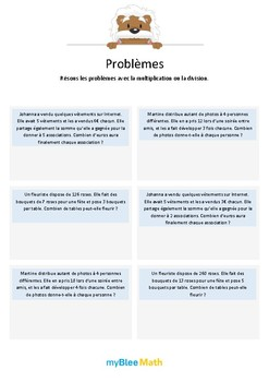 Multiplication et division 6 - x et ÷ dans le même problème