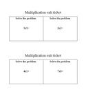 Multiplication exit ticket