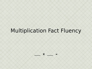 Multiplication fact fluency powerpoint