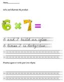 Multiplication fact rhyme