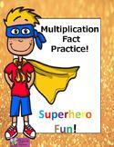Multiplication fact sheets- Superhero theme