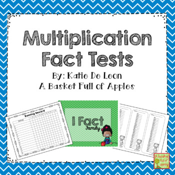 Multiplication fact tests 1-12