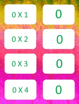 Multiplication facts (0-3)  Concentration & War Card Games