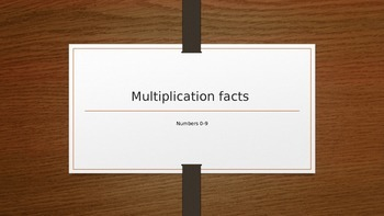 Multiplication facts 0-9 with stars