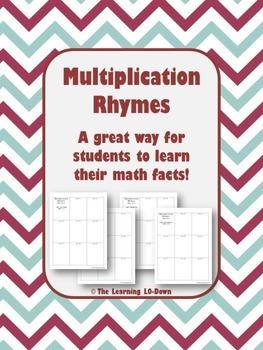 Multiplication Facts: Multiplication Rhyming Activity
