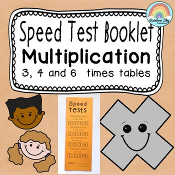 Multiplication facts Speed Test Booklet - 3,4,6