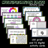 Multiplication facts practice-Activity cards (printable an