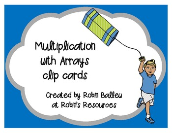 Multiplication facts with arrays clip cards